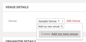 How to add a new venue